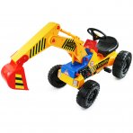 Childrens Pedal Ride on Yellow Super Mini Digger Tractor