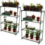 Double Pack Flower Staging Display Greenhouse Racking Shelving