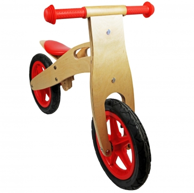 Kids Red Wooden Balance Training Bike Cycle Bicycle