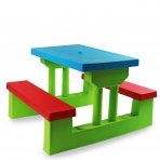 Kids Childrens Picnic Bench Table Set Outdoor Furniture