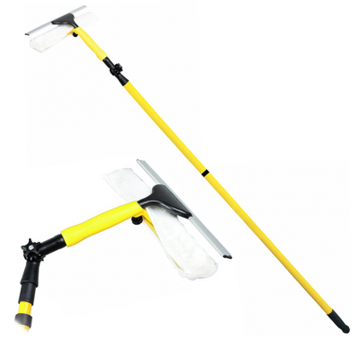 Extendable Window Cleaning Squeegee Mop Wash Wipe Cleaner Oypla Stocking The