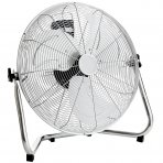 "20"" Inch 50cm Chrome Floor Standing Gym Fan Air Circulator"