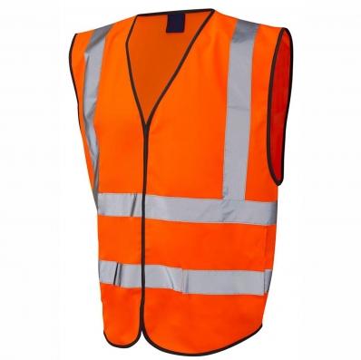Orange Hi Vis Safety Vest Jacket Large 163 2 99 Oypla