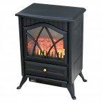 1850W Log Burner Flame Effect Electric Fireplace Stove Heater