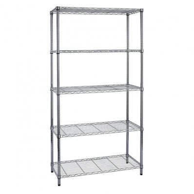 5 tier heavy duty steel wire rack shelf storage shelving. Black Bedroom Furniture Sets. Home Design Ideas