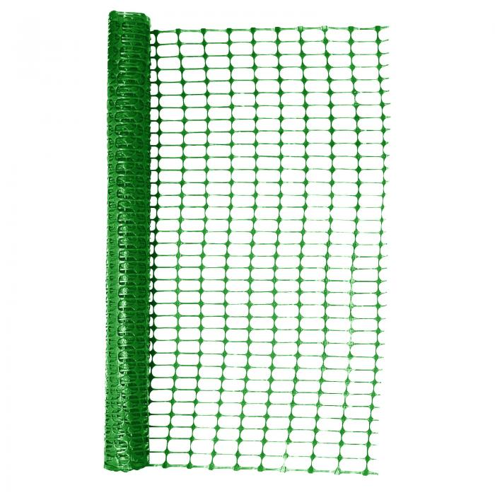 Heavy Duty Green Safety Barrier Mesh Fencing 1mtr X 25mtr