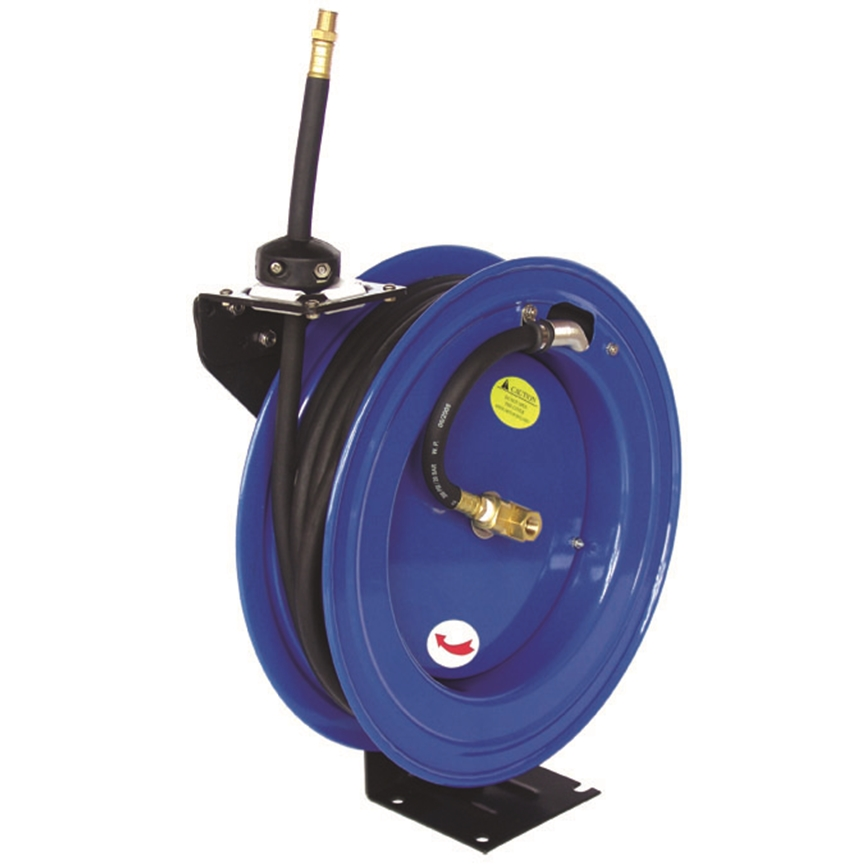 50ft 15m spring retractable 3 8 air line compressor hose reel oypla stocking the - Leroy merlin waziers ...