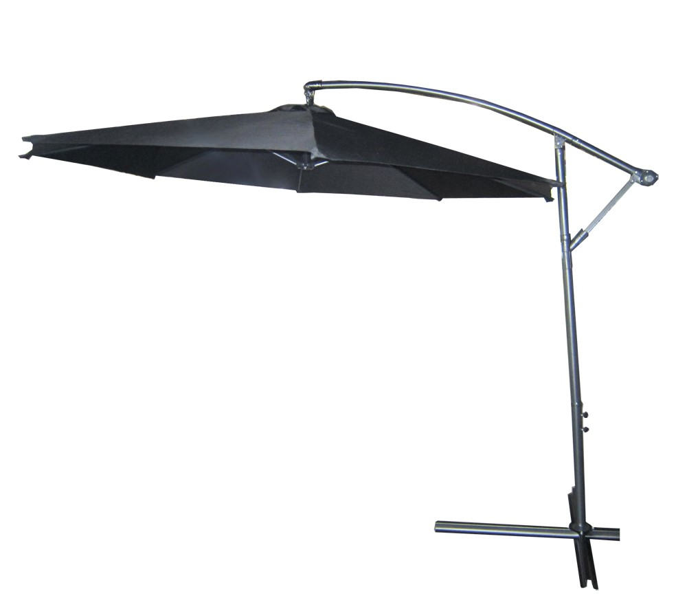 new 3m garden patio parasol sun shade outdoor furniture umbrella black. Black Bedroom Furniture Sets. Home Design Ideas