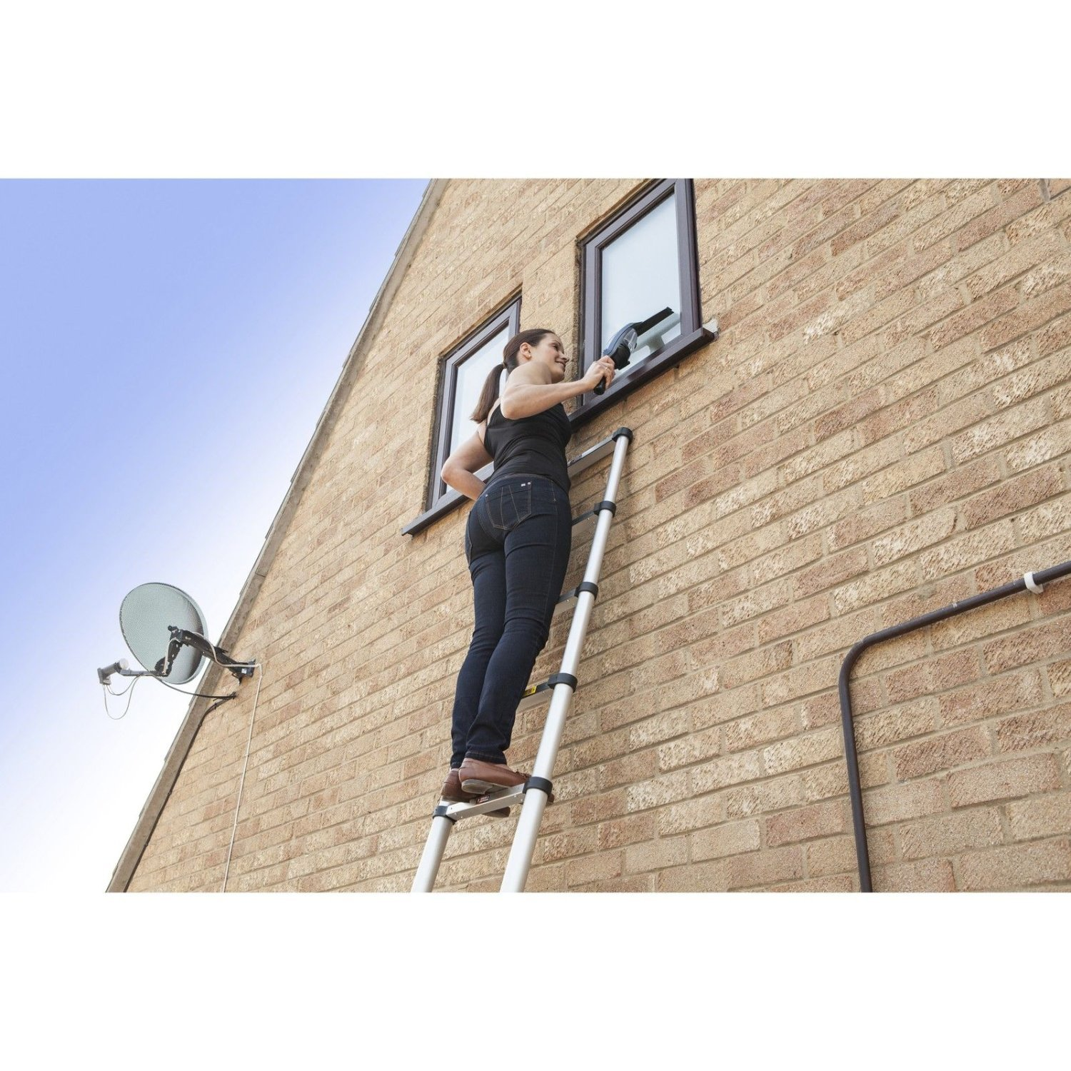 6ft Multi Purpose Step Ladders : M multi purpose extendable aluminium telescopic ladder