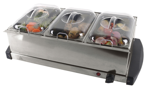 Electric Food Warmers Buffet ~ New stainless steel electric pan buffet food server