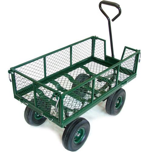 New Heavy Duty Metal Green Garden Cart Barrow Utility