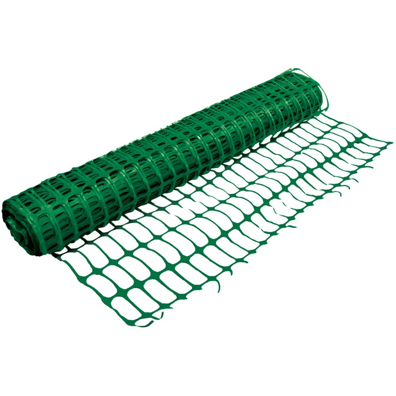 Heavy Duty Green Safety Barrier Mesh Fencing 1mtr X 50mtr