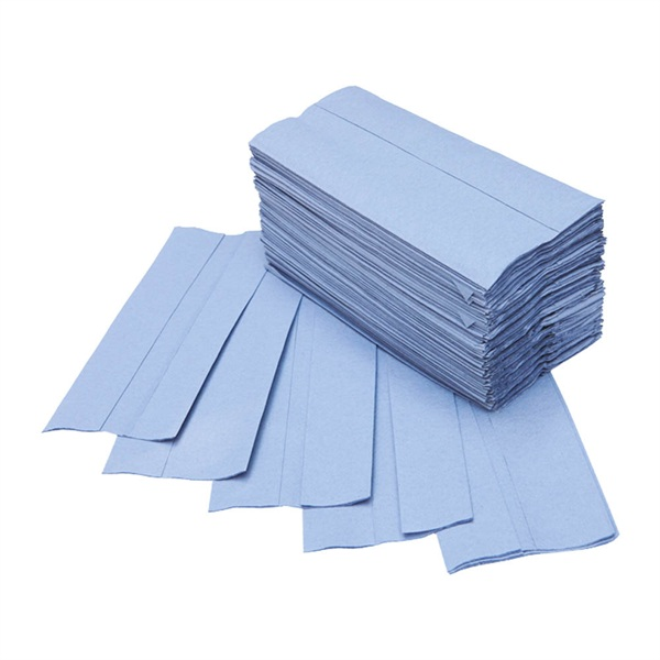 Blue C Fold 1 Ply Paper Hand Towels 2700 Towels Per Case Oypla