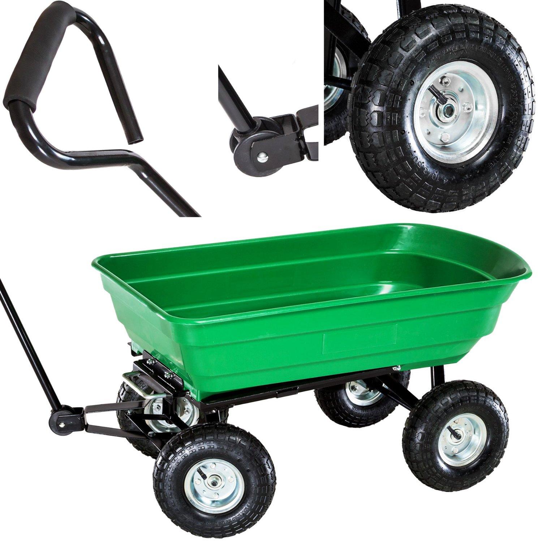 ... Heavy Duty Green Garden Cart With Tipping Barrow Trolley