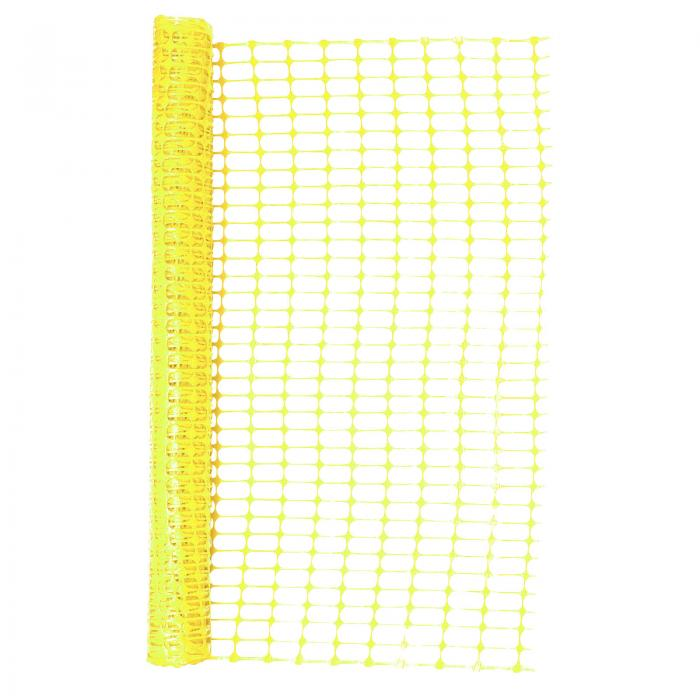 Heavy Duty Yellow Safety Barrier Mesh Fencing 1mtr X 50mtr