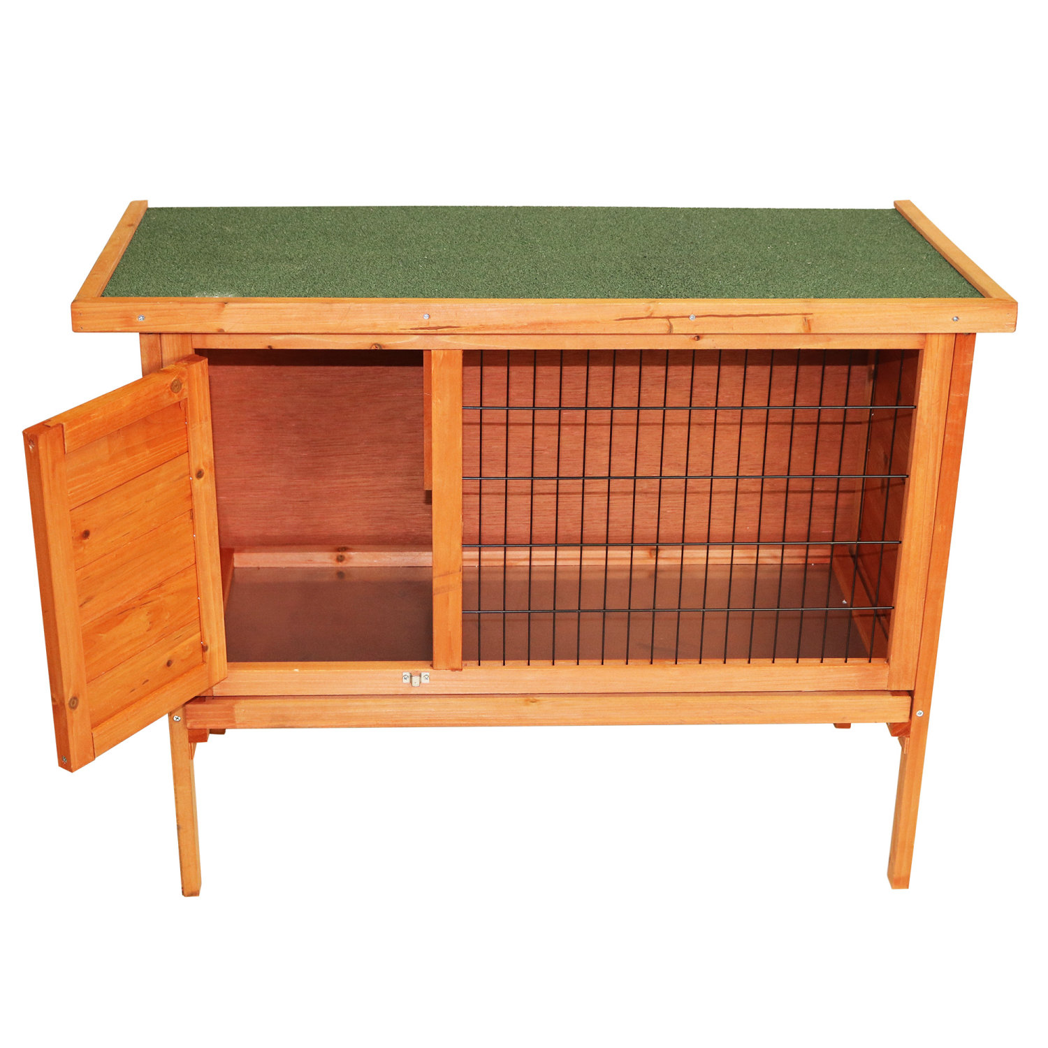 Single rabbit hutch 820x390x700mm oypla for What is a rabbit hutch
