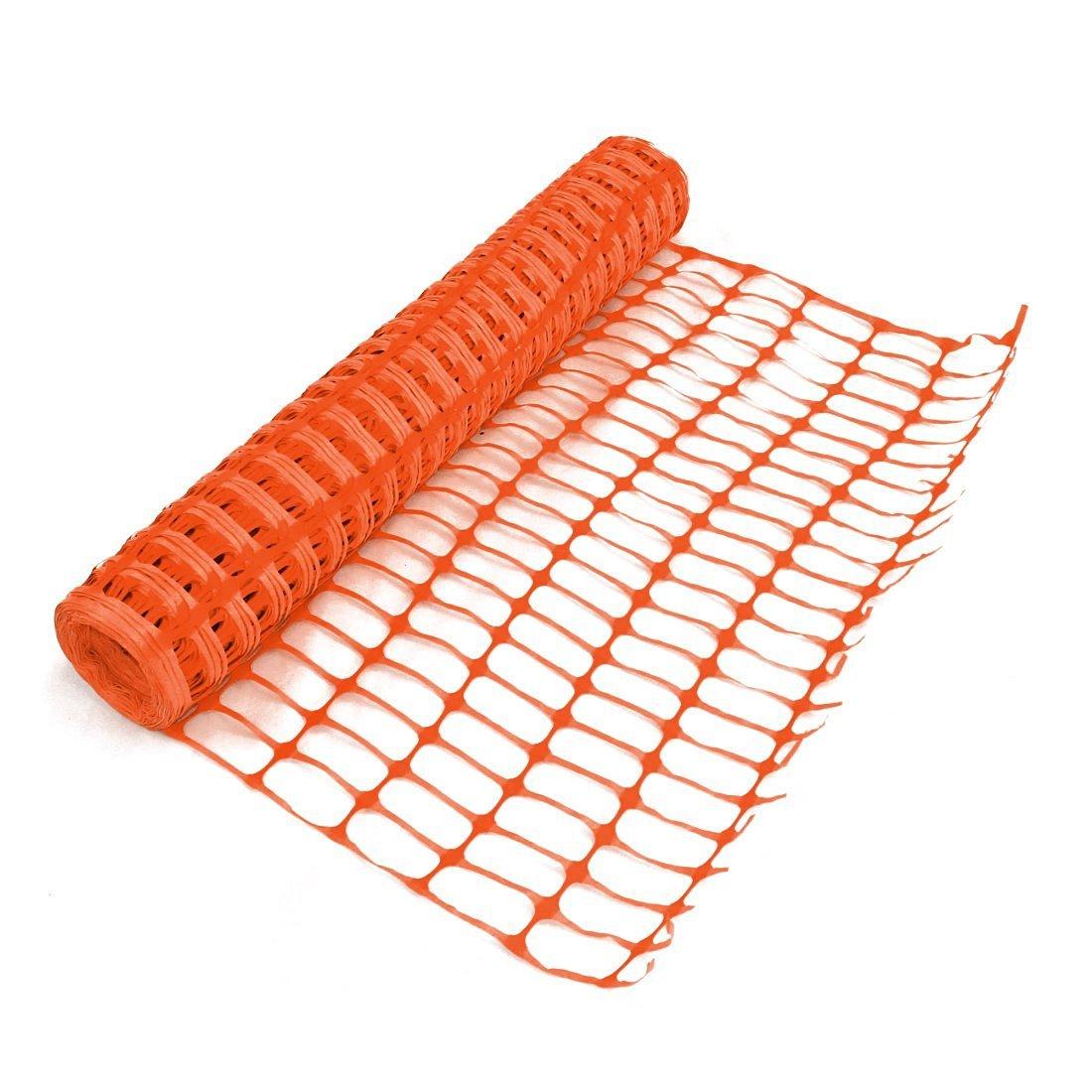 Heavy duty orange safety barrier mesh fencing mtr