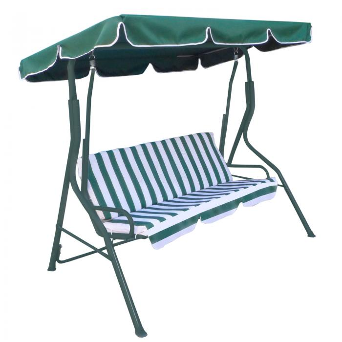 garden swing bench chair for 3 person oypla stocking the
