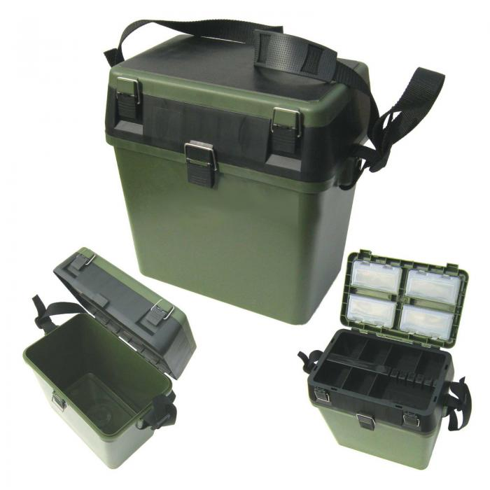 Fishing tackle box c w seat pad strap oypla for Best fishing tackle box