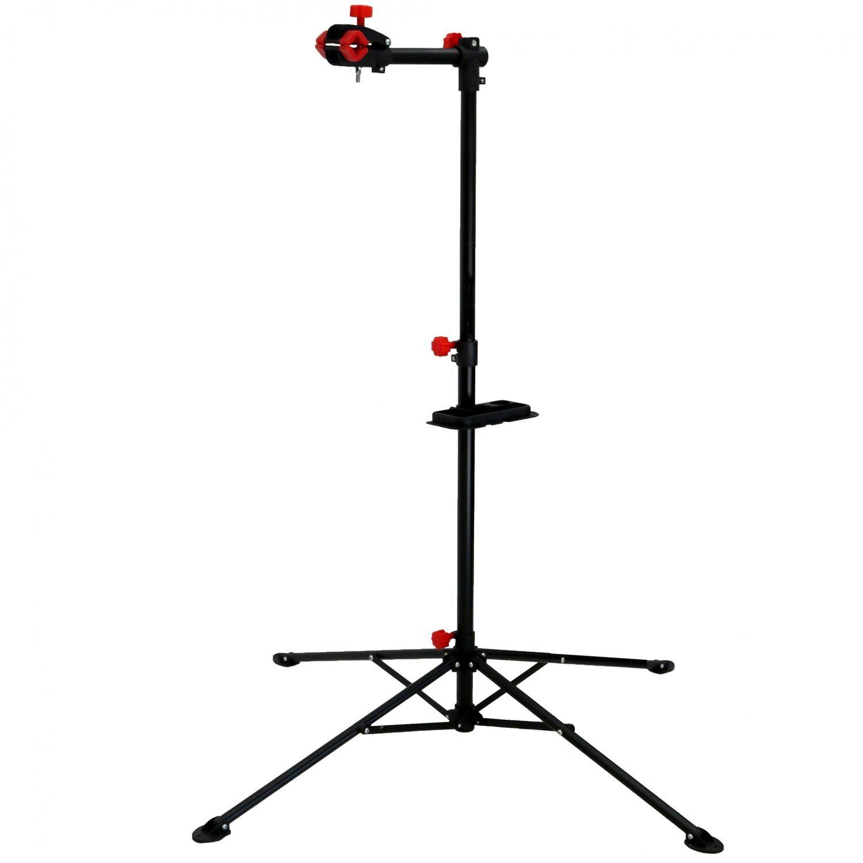 Metal Portable Home Heavy Bike Repair Stand Adjustable Height Rack Tool w// Tray