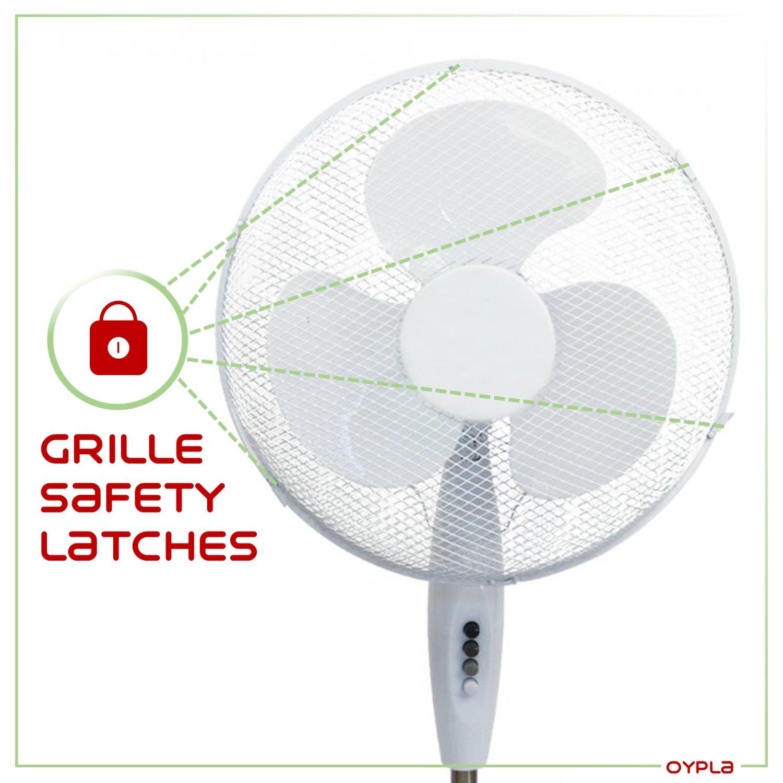 Hvac Cooling Fan : Oscillating pedestal electric fan £ oypla