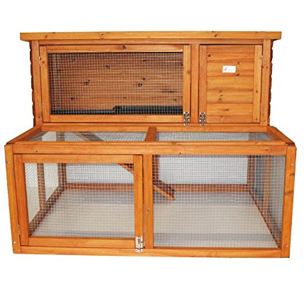 Rabbit Hutch 2 Tier Extended Guinea Pig Pet House With