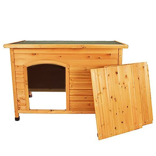 Wooden outdoor l xl large dog kennel house animal shelter for Xl dog crate furniture