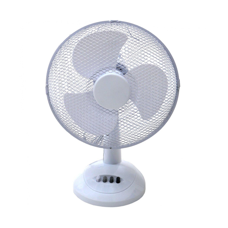 Oscillating Table Fans : Oscillating white desk top fan £ oypla