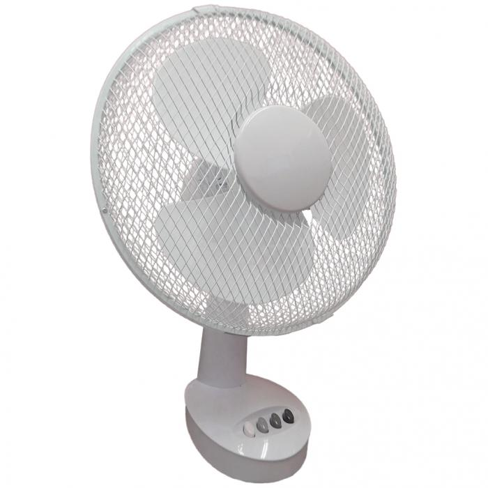 Table Top Oscillating Fan : New quot speed oscillating free standing cooling desk