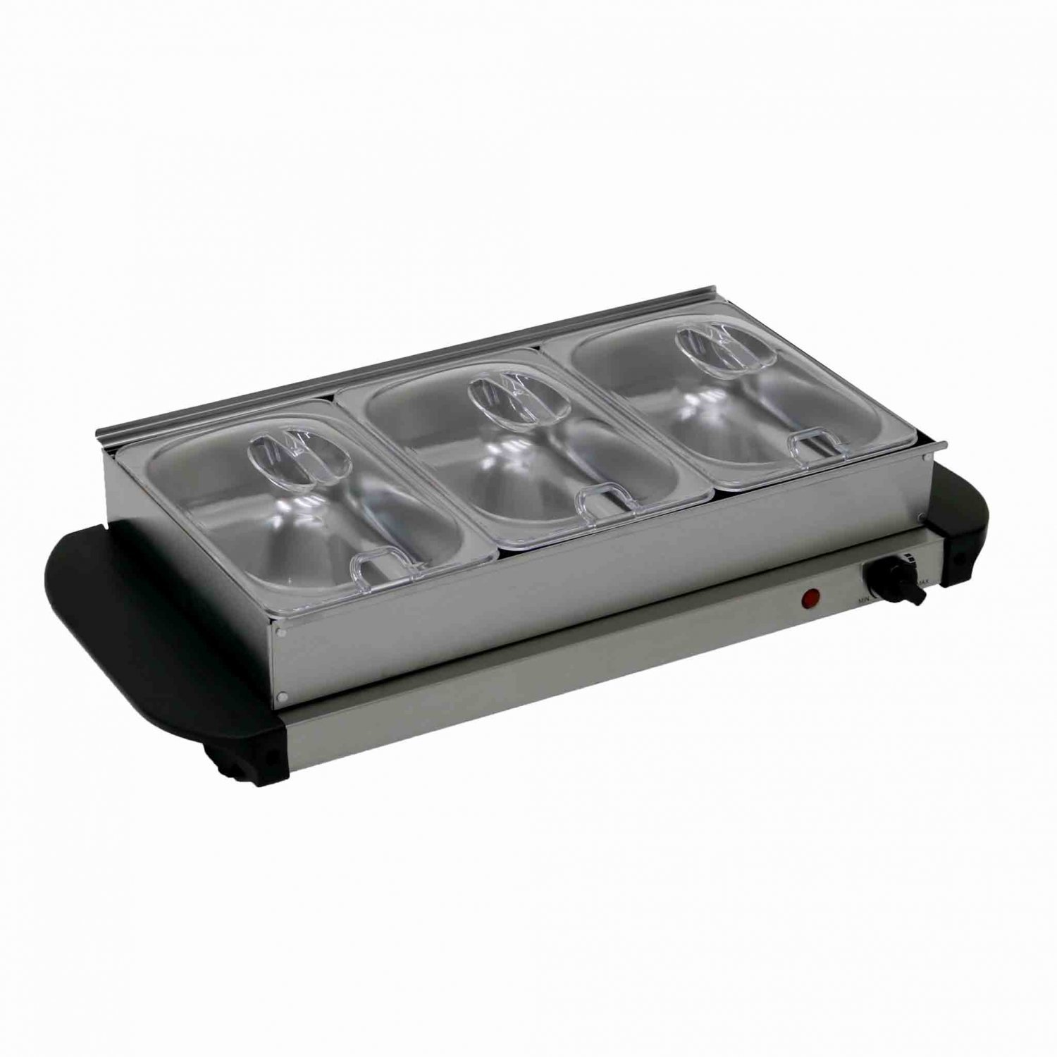 Fabulous Stainless Steel Electric 3 Pan Buffet Food Warmer Hot Plate Tray Interior Design Ideas Clesiryabchikinfo