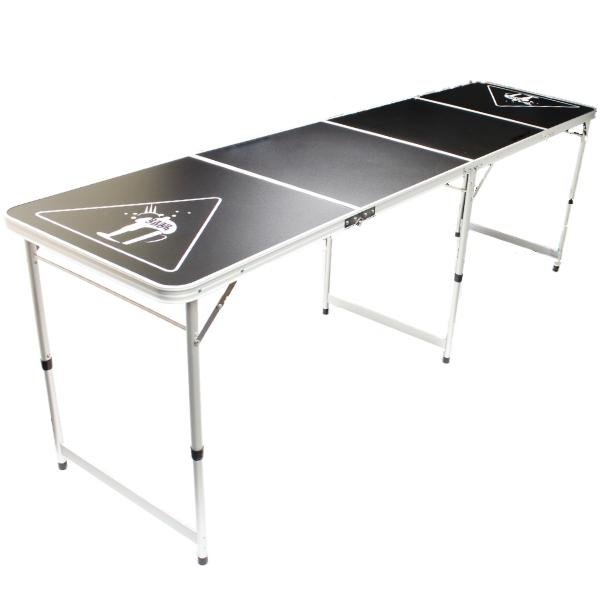 Official size 8 foot folding beer pong table bbq drinking party oypla stocking the - Beer pong table triangle dimensions ...
