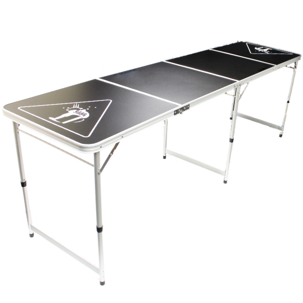 official size 8 foot folding beer pong table bbq drinking party oypla stocking the. Black Bedroom Furniture Sets. Home Design Ideas