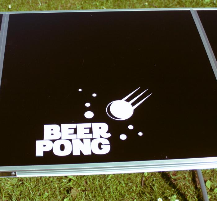 Official Size 8 Foot Folding Beer Pong Table BBQ Drinking ...