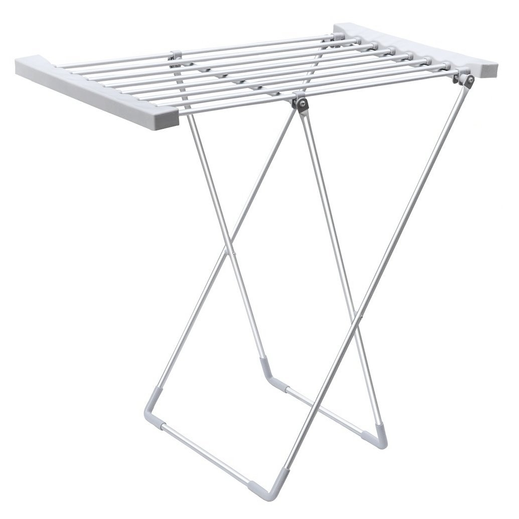 electric heated 8 bar foldable folding clothes horse airer