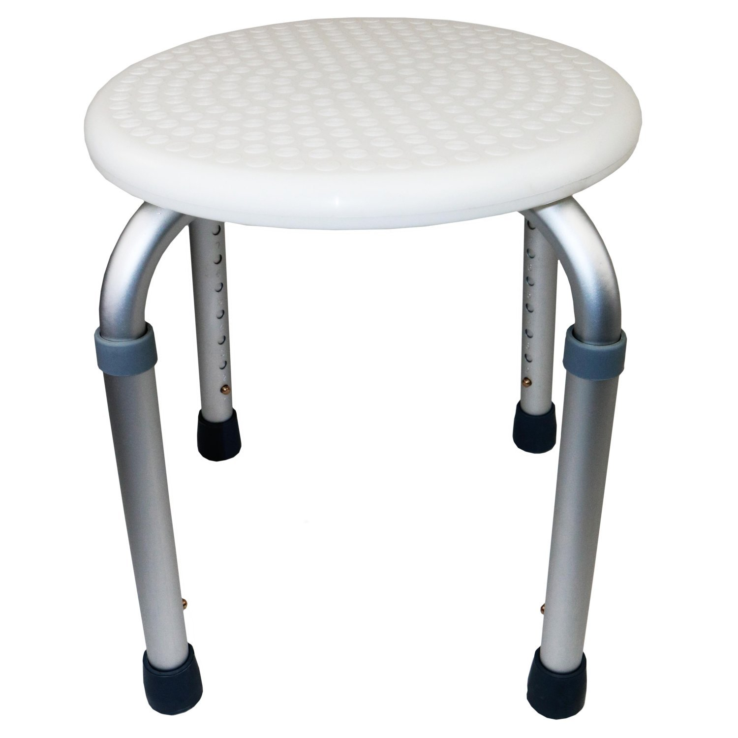 Height Adjustable Round Shower Stool Seat Disability Aid