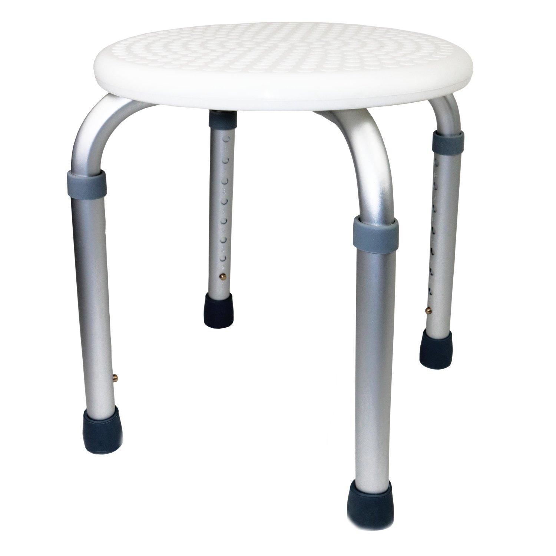 Oypla Height Adjustable Round Shower Bath Stool Seat