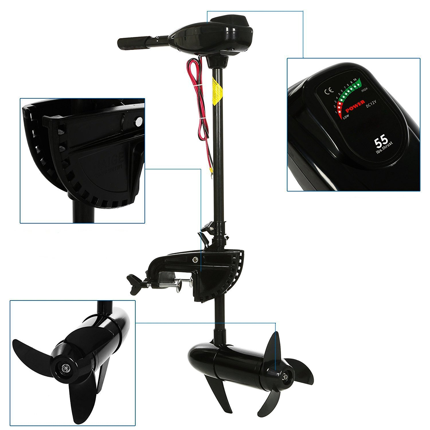 Outboard engine boat motor electric saltwater freshwater for Battery powered dc motor