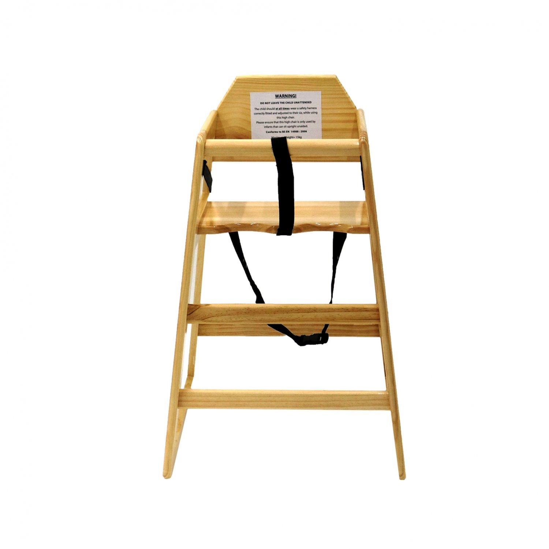 Kids Wooden High Chair   Natural ...