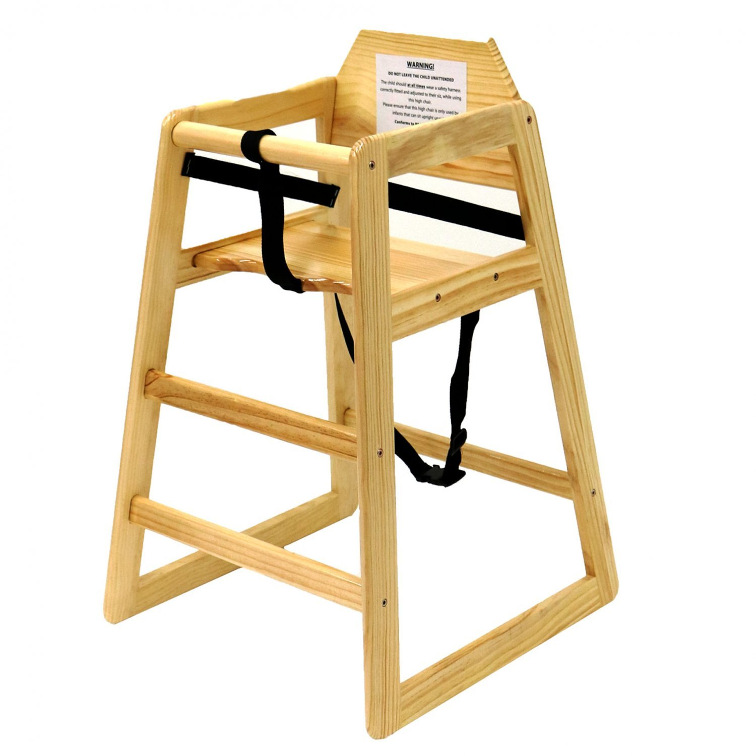 Kids Wooden High Chair - Natural - £26.99 : Oypla ...