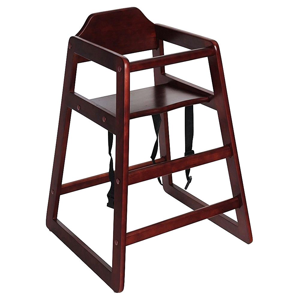 Kids Wooden High Chair - Dark Brown - £24.99 : Oypla ...