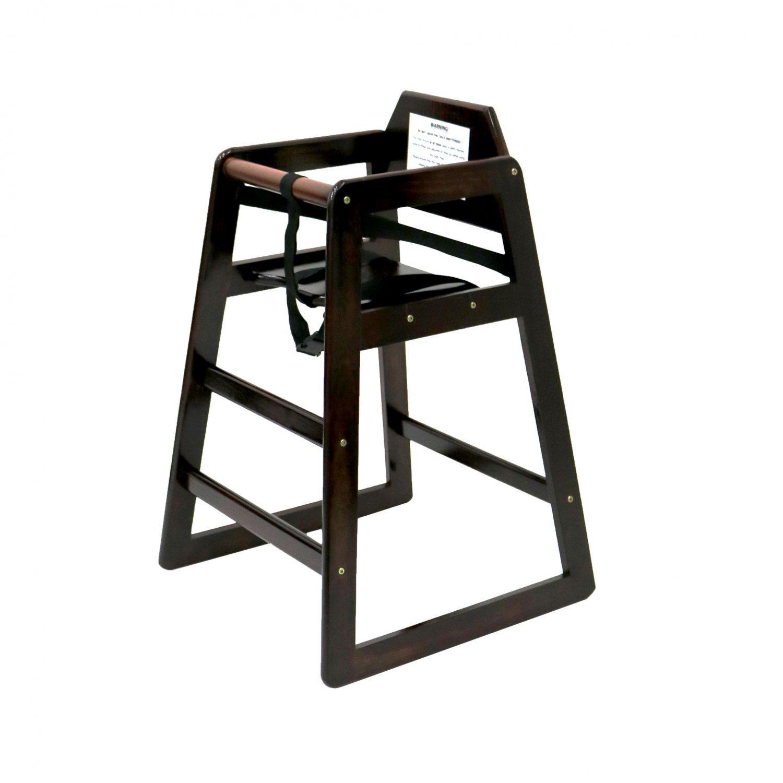 Kids Wooden High Chair Dark Brown 163 24 99 Oypla