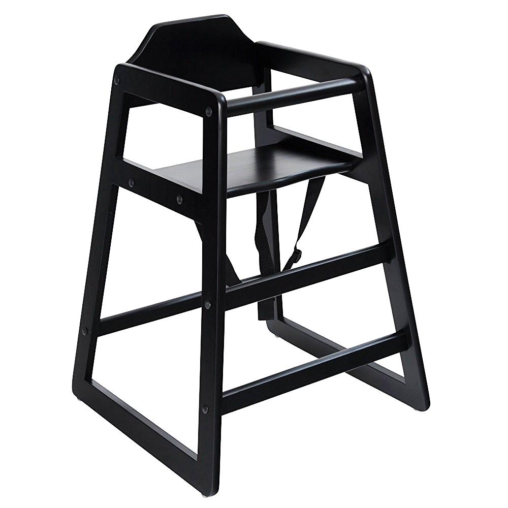 wooden high chair black 163 24 99 oypla