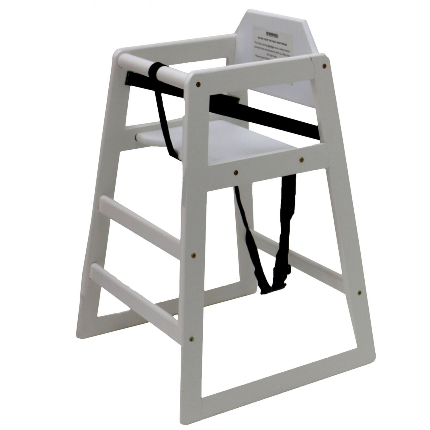 Details about NEW! Stackable Kids Baby Wooden Feeding Commercial Home High Chair White