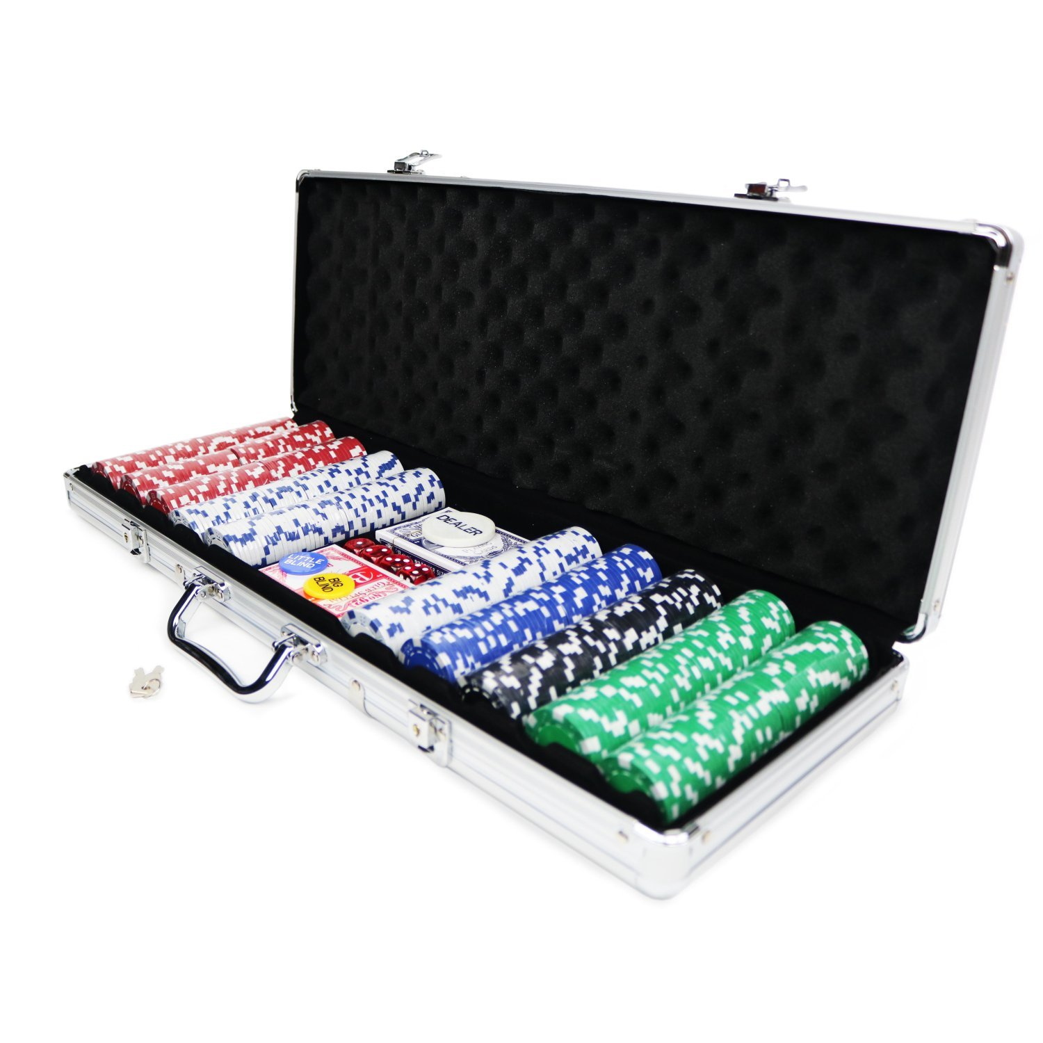poker set 500 piece complete with casino style case - Poker Chips Set