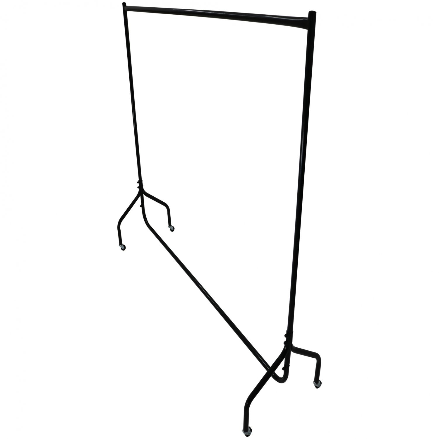5ft Garment Clothes Rail Super Heavy Duty All Metal Black