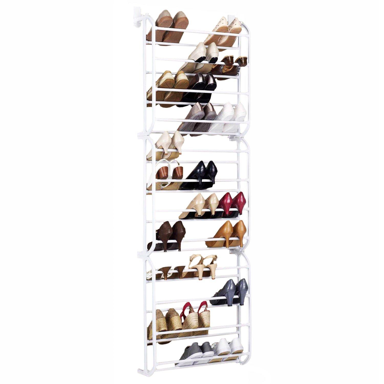 Door Hanging Shoe Rack White 36 Pair 163 12 99 Oypla
