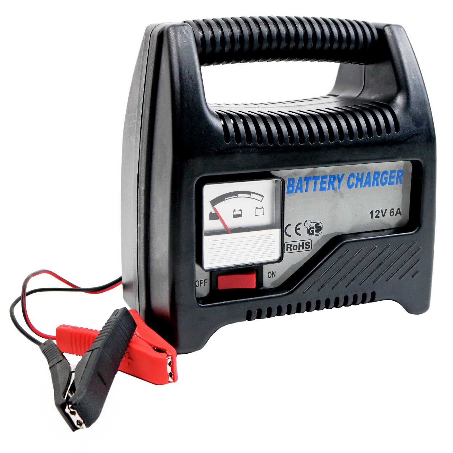 6a 12v Compact Portable Car Van Vehicle Battery Charger