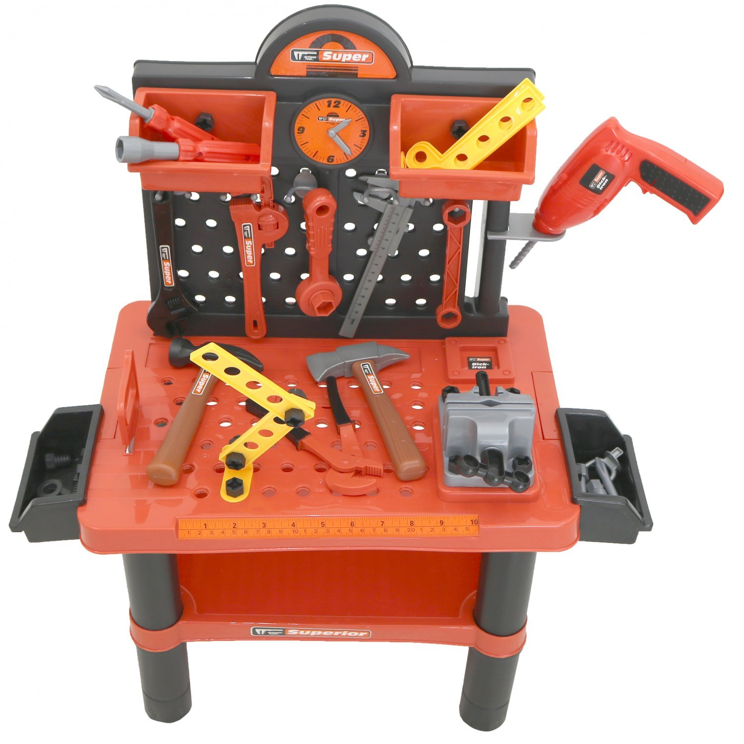 childrens kids play toy workbench tools kit workshop playset oypla stocking the. Black Bedroom Furniture Sets. Home Design Ideas