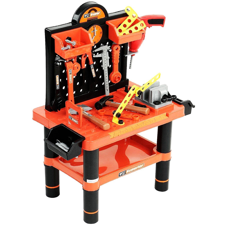 Childrens Kids Play Toy Workbench Tools Kit Workshop Playset Oypla Stocking The