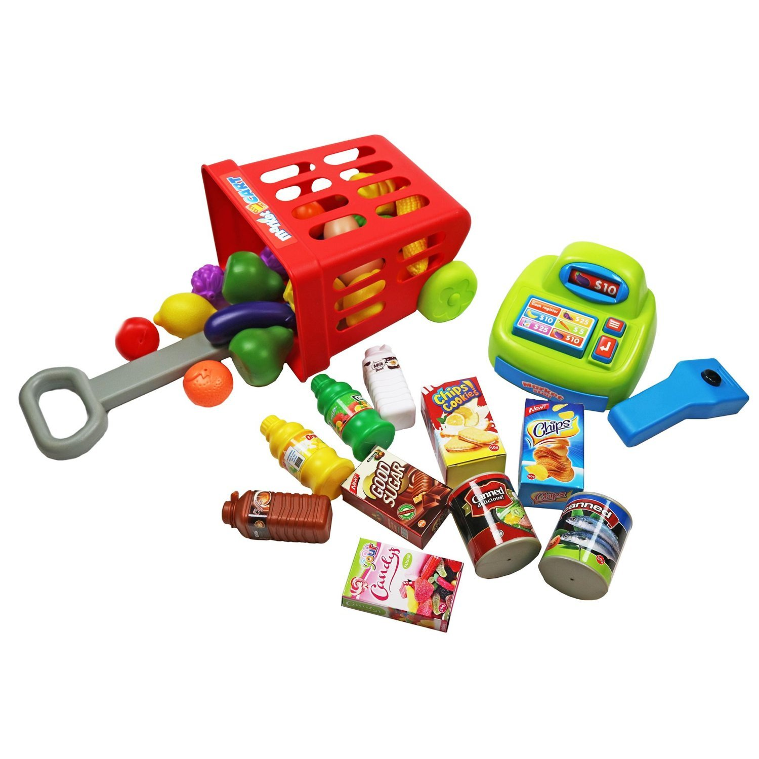 Childrens Kids Supermarket Shop Grocery Pretend Toy Play Set